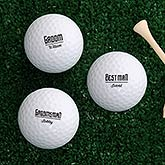 Personalized Golf Balls - Groomsmen Gift - 18969