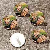 Custom Photo Personalized Golf Ball Markers - 18972