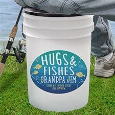 Personalized Bucket Cooler - Hugs & Fishes - 18975
