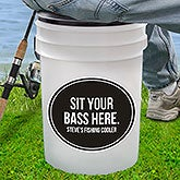 Personalized Fishing Bucket Cooler & Seat - 18977