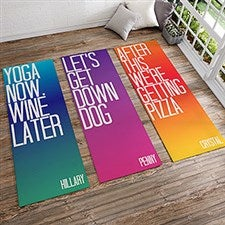 Funny Yoga Mats - Personalized Yoga Mats - 18978