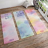 Personalized Yoga Mats - Watercolor - 18980