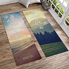 Personalized Yoga Mats With Inspirational Quotes - 18985