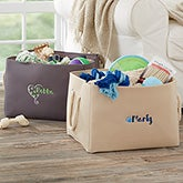 Personalized Dog Toy Storage Tote - 18989