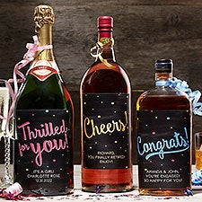 Personalized Liquor Bottle Labels - Congratulations - 18990