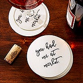 Custom Paper Coasters - Add Your Own Text - 18999