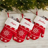 Personalized Christmas Stockings - Winter Mitten - 19010