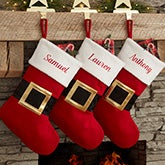 Personalized Christmas Stockings - Santa Belt - 19011