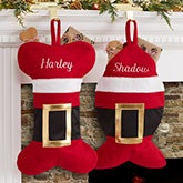 Personalized Pet Christmas Stockings - Santa Belt - 19014