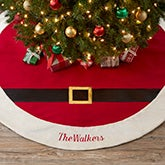 Personalized Tree Skirt - Santa Belt - 19017
