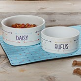 Personalized Dog Bowls - Modern Arrow - 19020