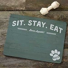 Personalized Dog Food Mat - Farmhouse Style - 19034