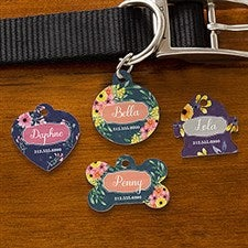 Personalized Dog Tags - Floral Designs - 19037