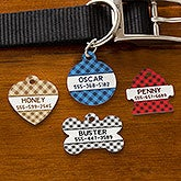 Personalized Pet Tags - Plaid Designs - 19039