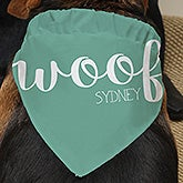 Personalized Dog Bandanas - Woof - 19040