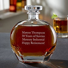 Custom Engraved Whiskey Decanter - Add Any Text - 19044