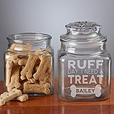 Personalized Pet Treat Jar - Ruff Day, I Need A Treat - 19050