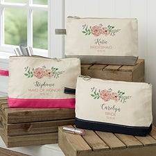 Personalized Makeup Bags for Bridesmaids - 19056