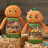 Personalized Halloween Pumpkin Candy Jars - 19073