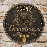 Personalized Plaque - Oak Barrel Brew Pub Sign - 19076D