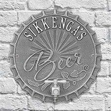 Personalized Plaque - Bottle Cap Brew Pub Sign - 19077D