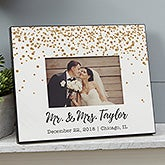 Personalized Wedding Picture Frame - Sparkling Love - 19096