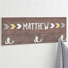 Personalized Kids' Coat Rack - Tribal - 19107