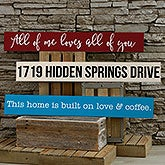 Custom Wood Signs - Add Any Text - 19115