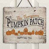 Personalized Slate Plaque - Family Pumpkin Patch - 19117