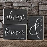 Personalized Shelf Decor - Always & Forever - 19133