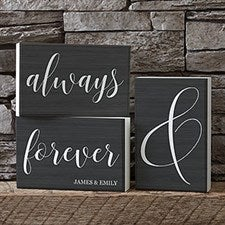 Personalized Shelf Decor - Always & Forever - 19133
