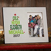 Christmas Tree Personalized Family Picture Frame - 19136