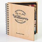 Engraved Wood Personalized Wedding Photo Album - 19147