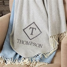 Monogrammed Luxury Throw - 19158