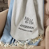 Wedding & Anniversary Personalized Luxury Throw - 19159