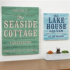 Personalized Shiplap Signs - Home Away From Home - 19163