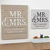 Mr & Mrs Personalized Wood Slat Plank Signs - 19170