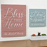 Bless This House Personalized Wood Plank Signs - 19171