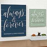 Personalized Wood Plank Signs - Always & Forever - 19174