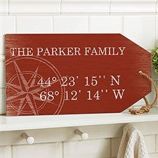 Latitude Longitude Personalized Wood Shelf Decor - 19176