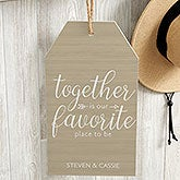 Personalized Wood Wall Tags - Together is - 19191
