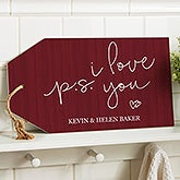 Personalized Wall Art Wood Tag - PS I Love You - 19193