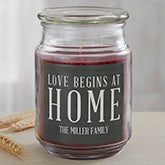 Love Begins At Home Personalized Scented Candles - 19195