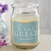 Be Our Guest Personalized Scented Candles - 19196
