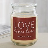 Love Lives Here Personalized Scented Candles - 19198