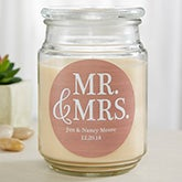 Mr & Mrs Personalized Scented Wedding Candles - 19199