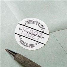 Personalized Address Labels - Modern Circle - 19208