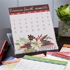 Personalized Desk Calendar - Modern Floral - 19210