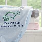 Custom Embroidered Baby Blanket - Lovable Characters - 19220