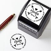 Arrows of Love Self-Inking Custom Address Stamp - 19235